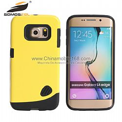 Samsung Galaxy S6 Edge Cover Case 2 in 1 mobile phone case supplier