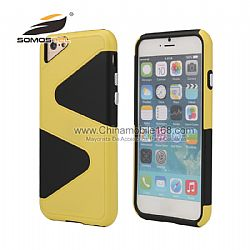 Top quality 2 in 1 tpu+pc Z-shape design protective case for iphone 6S PLUS