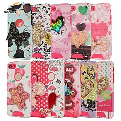 Serie knight protector de PC + TPU+lentejuelas 3D decorativo para Iphone/LG/Huawei