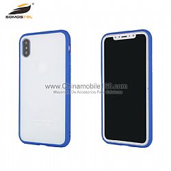 Funda TPU+PC con parachoque en transparente para IphoneX