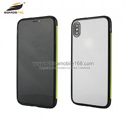 TPU+PC caso protector de marco de colores anti caídas para iPhone XR/7P/8P