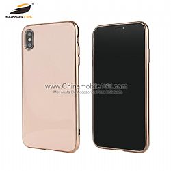 Wholesale TPU+PET 2 in1 flexible electroplated phone case
