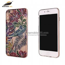 Electroplated painted beautiful flowers hard protector case for LG G3/G4/G5
