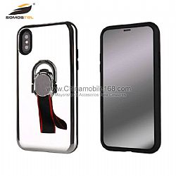 PC+TPU mirror phone cases with ring magnetic support