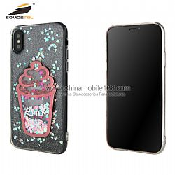 Funda TPU+PC Serie Bling Con Dibujo Cartoon En  Liquido Brillante Y UV para Huawei Mate10/20