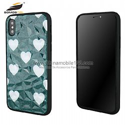 High quality TPU case in 3D diamond design with PC in drawing