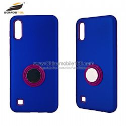 2 in 1 Phone Protective Shell With Invisible Stand With Single Color Ring