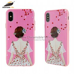 Popular diamond +glossy oil relife phone protectors