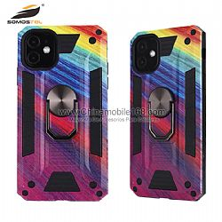 Mobile Protector Case With Finger Ring Holder For iPhone 6 7 8 X Xs Xr Xs Max 11 Pro