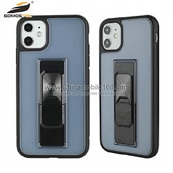 Funda TPU+PC En Color Multifunción Con Soporte Invisible Para iPhone12ProMax