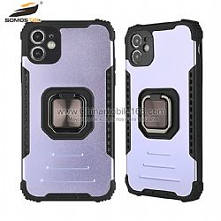 Funda TPU+Metal Serie Pinnacle Warrior En Color Espay Para iPhone12/12mini