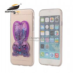 Lovely 3D TPU Silicon Rabbit shape with Stand Holder Back Cover Case For Iphone  6s plus