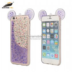 3D Mouse TPU Case + Epoxy With Butterfly designs phone case for iPhone 6
