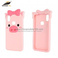 Anti-scratch foldable pink pig silicone case for moto E5/Z3