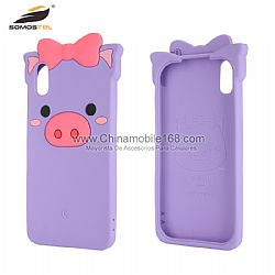 Universal silicone cute pig mobile phone case for Huawei