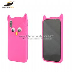 For Samsung S6/S9 big-eyed owl silicone case