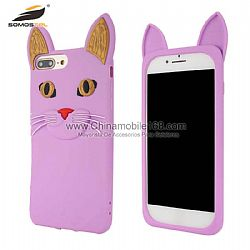 Fashion cute 3D big ears cat silicone case for Oppo F9/F9Pro