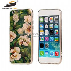 flores de moda al por mayor fundas para iphone 6 de TPU