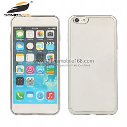 Hot selling Rubber Metal Bumper Clear Back Case Cover For iphone 6/ iPhone 6 plus