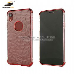 Anti-fall TPU cover in diamond design with electroplating bumper