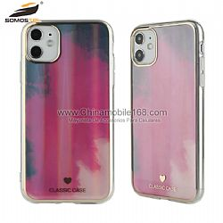 Funda 1.6mm TPU Galvanoplastia Plana Dual Caras De IMD En Color Gradiente Para iPhone12