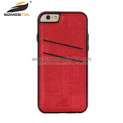 Calidad superior tacto slim fit funda protectora de cuero para Apple iPhone 6