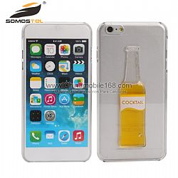 Funda dura con botella cooktail de liquido 3D para iPhone 6