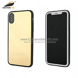 Funda TPU+PC+metal en unico color cepillado para IPhone6G/7G/X