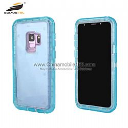 Waterproof TPU+PC transparent  robot case for Samsung S7/S7edge
