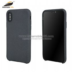 Fashionable nano silicon phone case in velvet paint color