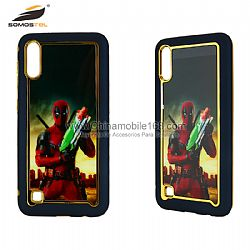 Wholesale electroplating TPU+PC+Acrylic protective case with unfoldable stand