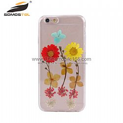 Handmade pressed flowers phone case