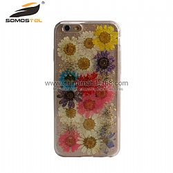 Handmade pressed colorful flowers phone case wholesale for iPhone