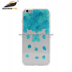 Green petal pressed flower phone case