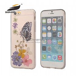 Hot sale butterfly sunflower pressed phone case supplier For iphone  6s