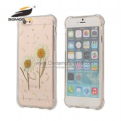 Real Flower Pressed Dried  Anti-Shock Series TPU back Cover Cases For iPhone 6