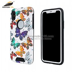 Gran venta fundas TPU+PC con patrón de relieve de mariposa para Samsung S6 /Iphone 7Plus