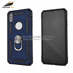 Rubberized military series anti-drop case with ring holder