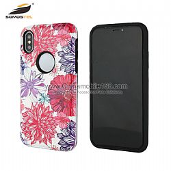 For iphone xs max TPU+PC hybrid protective mobile case covers with bright relief design