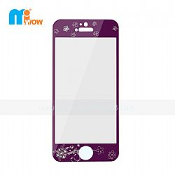 Deluxe Purple Tempered Glass Screen Film Protector for iPhone 5S (Front & Back)