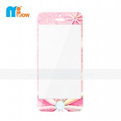 Girly Pink Fashion Pattern Tempered Glass Screen Protector Kit for iPhone 5S (Front  & Back)