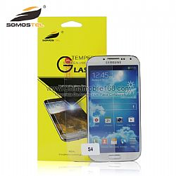 Tempered glass mobile phone screen protector for Samsung Galaxy S4
