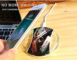 Wholesale crystal UFO wireless charger for Iphone8/X/Samsung S8