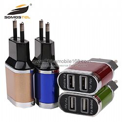 Europe standard adaptor dual USB travel charger