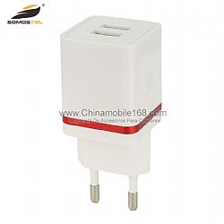 New arrival 2.1A ABS dual USB port travel adapter