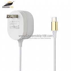 Type-C QC3.0 fast charging cable travel charger