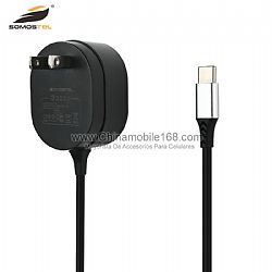 Reliable performance 5v 3a black charger adapter with cable