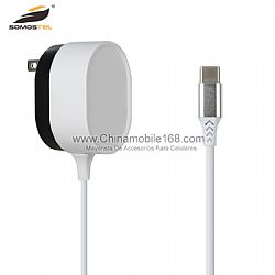 Multi protecitons white+black dual colors fast charger