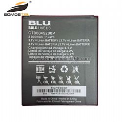 Universal Battery Replacement Mobile Phone Battery for BLU 3.7V 2000mAh C706045200P