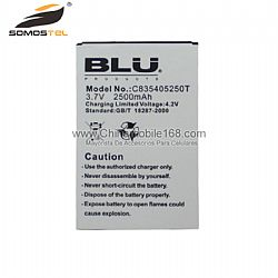 Universal Battery Replacement Mobile Phone Battery for BLU 3.7V 2500mAh C835405250T